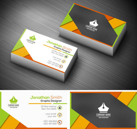 business card template: illustration of creative business card.