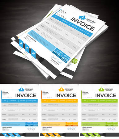 invoices: Vector illustration of creative invoice template. Illustration