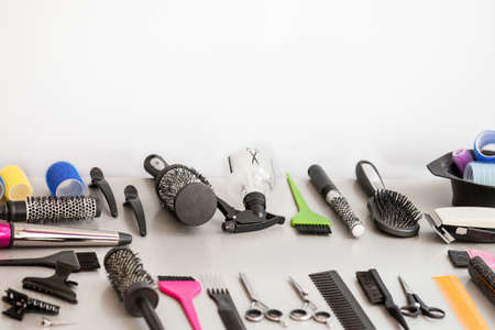 profesional: Profesional haidressing tools with copy space.