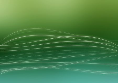 Wavy white lines on a green and blue background  Stock Photo
