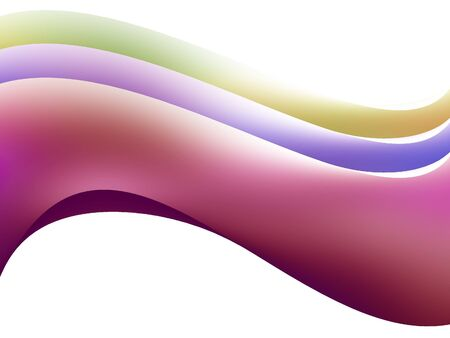 Wavy colourful lines on a white background Stock Photo