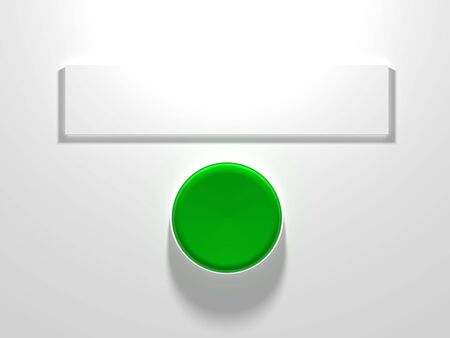 A green button with blank sign above Stock Photo