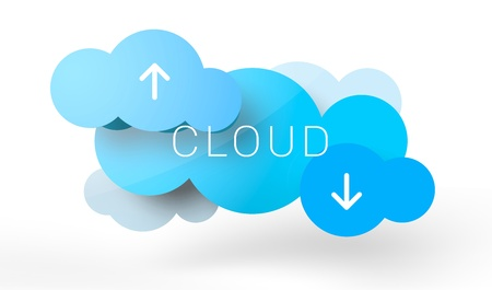 A couple of rendered clouds in vector-look, illustrating the new IT technology called Cloud computing