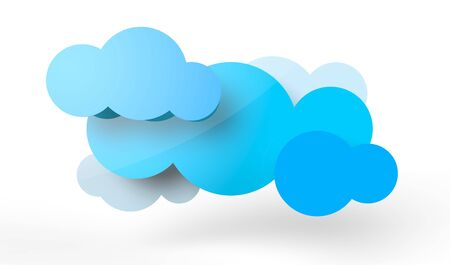 A couple of rendered clouds in vector-look. Can be used for signage or as a logo.  Stock Photo - 19398496