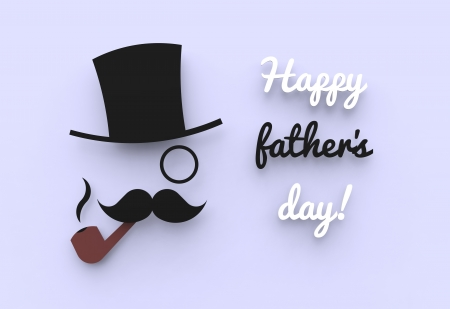 A cute father s day illustration of a man with a top hat and a pipe