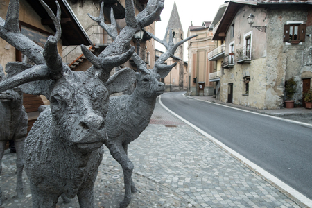 Metal Deer Imagens - 92707380