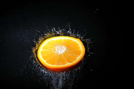 orange splash Stock Photo