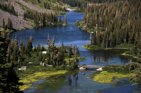 twin lakes 免版税图像