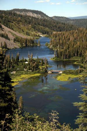 twin lakes Stock Photo