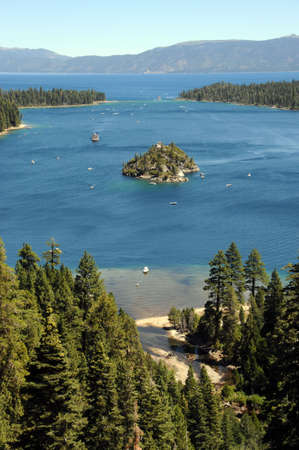 fannette: tahoe lake Stock Photo