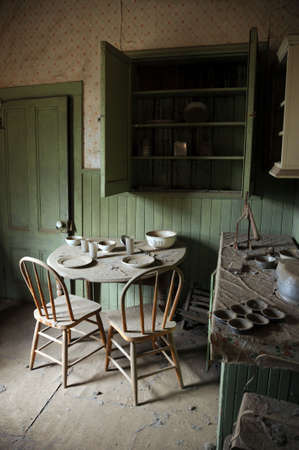 abandoned house: ghost town kitchen