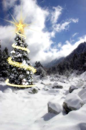 Weihnachtskarte Standard-Bild - 3948214
