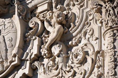 sacral symbol: architectural relief