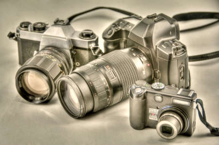 camera evolution in hdr Stock Photo