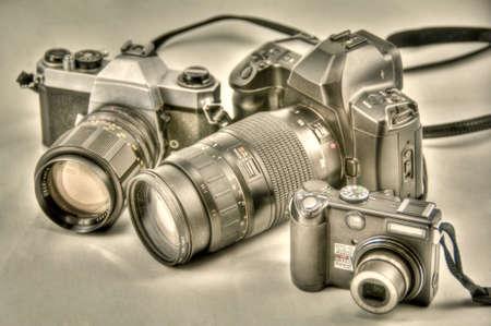 camera evolution in hdr Archivio Fotografico