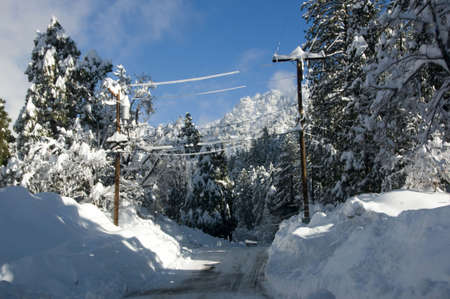 winter road in the muntains