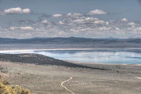 panoramic view of mono lake california