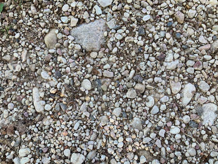 Small sea stones in gray color. Background of stones.