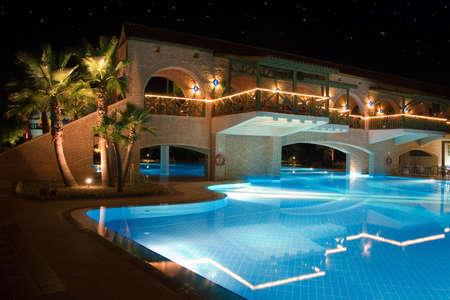 holiday lighting: Rich hotel