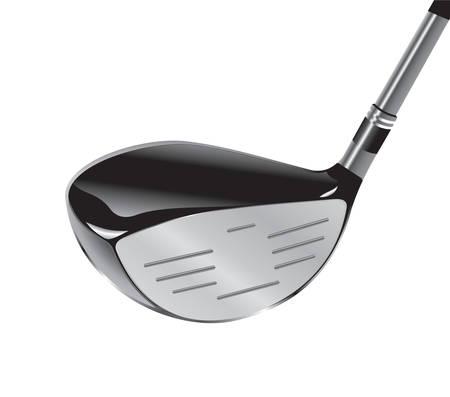 golf iron: Vector. Golf club.