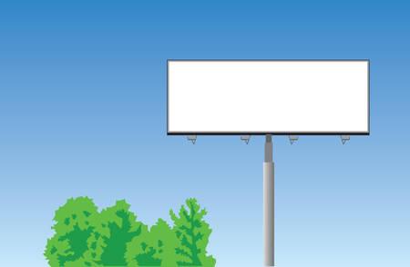 Vector. Blank road billboard Vector