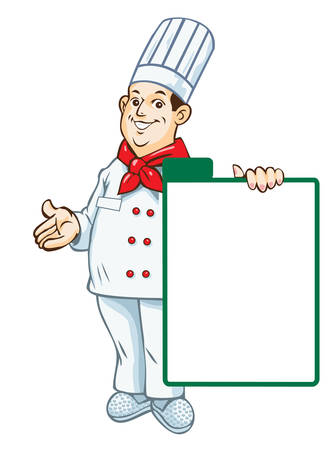 commercial kitchen: Vector. Chef menu Illustration