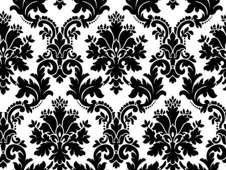 Vector. Naadloze damast patroon