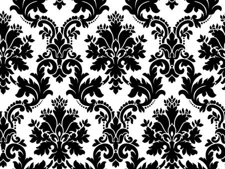 damast: Vector. Nahtlose Damast-Muster
