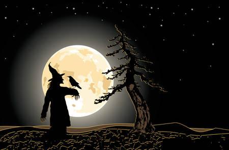 Vector. Dark halloween illustration Stock Vector - 3569561