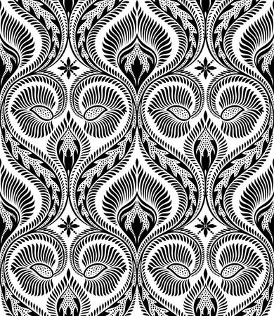 Vector. Seamless floral pattern Stock Vector - 3896821