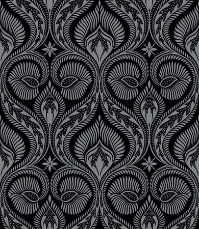 damask pattern: Vector. Seamless floral background
