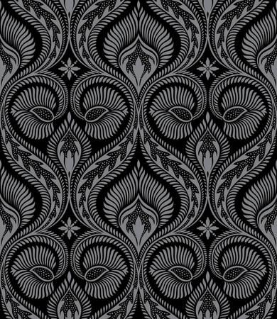 damasco: Vector. Sin fisuras floral de fondo Vectores