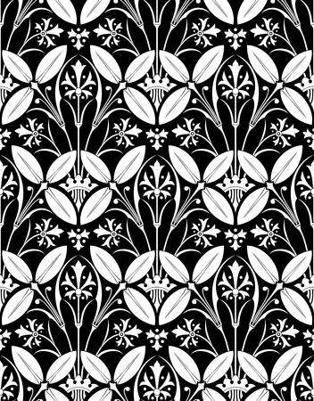 Vector. Seamless victorian pattern Illustration