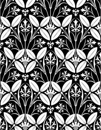 Vector. Seamless victorian pattern Ilustrace