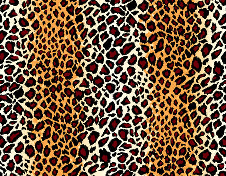 leather coat: Vector. Seamless leopard pattern