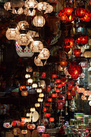 colorful lantern: turkish lapms Stock Photo