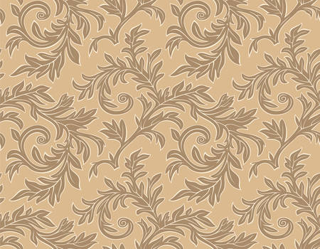 Vector. Seamless wallpaper branch pattern