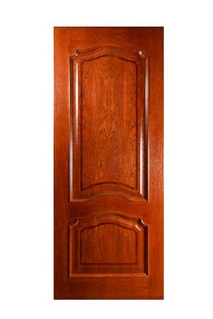 puertas de madera: Puerta a mano de lujo. Aislado sobre fondo blanco