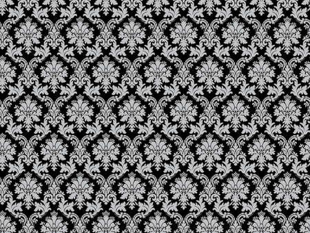 Seamless damask pattern illustration. Big XXL size. Stock Photo
