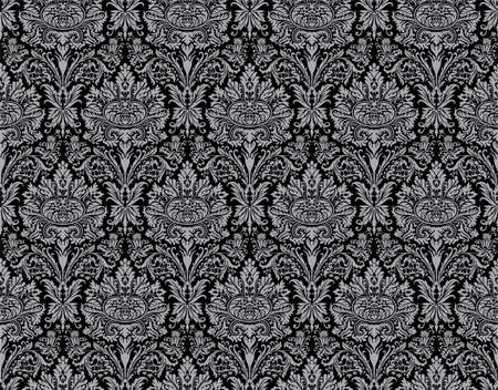 Seamless damask ancient pattern. Big XXL size Stock Photo