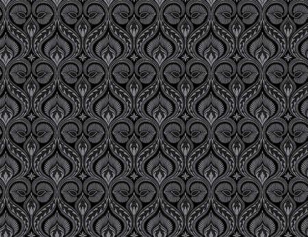 xxl: Seamless floral ancient pattern. Big XXL size Stock Photo