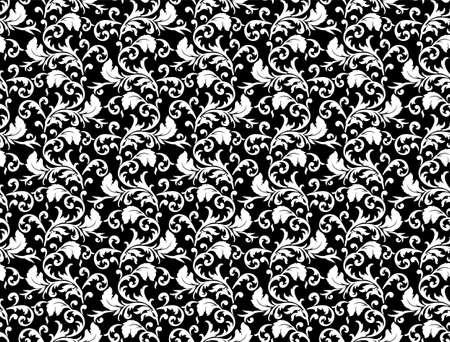 xxl: Seamless leaf pattern illustration. Big XXL size Stock Photo