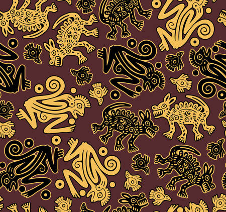 Vector. African indigenous seamless wild animal texture Vector