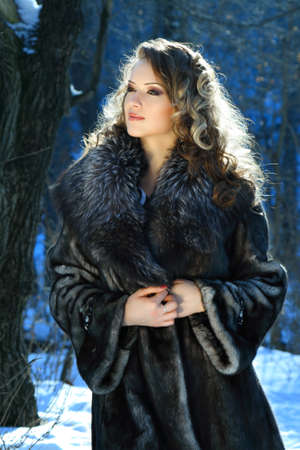 portrait of a winter woman Stock Photo