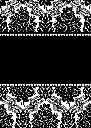 damask frame Stock Photo