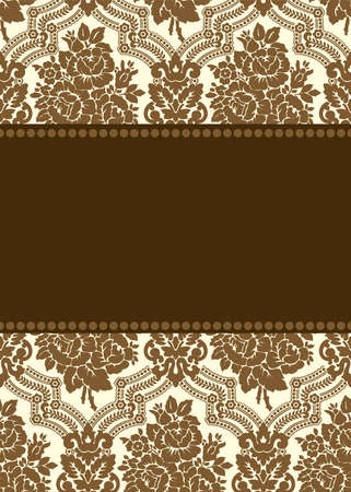 damask frame Stock Photo - 9947150