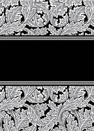 Vector damask frame Illustration