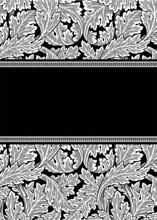 Vector damask frame Ilustrace