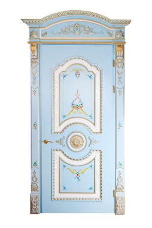 Handmade luxury door. photo