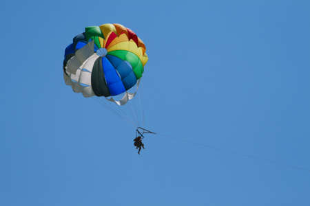 paraglide: Para sailing on the sunny day
